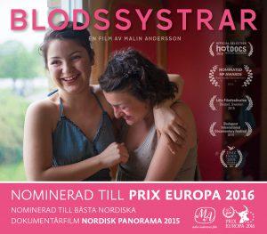 Blodssystrar är Prix Europa nominerad