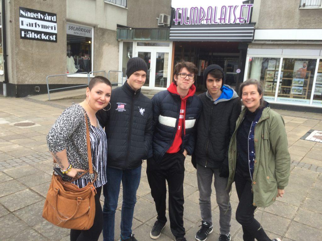 Julia, Jesper, Rasmus,Teo,Malin Bromölla 17 april